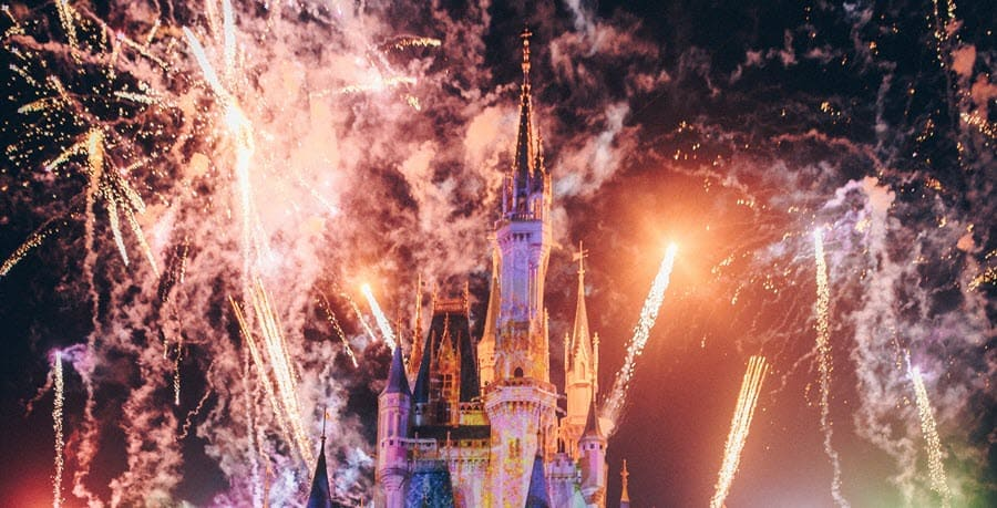 See the fireworks at Disney World