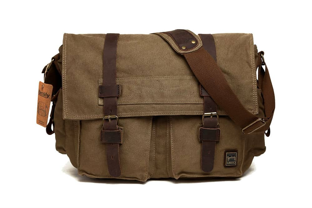 Berchirly Military Men's Canvas Messenger Bag Review
