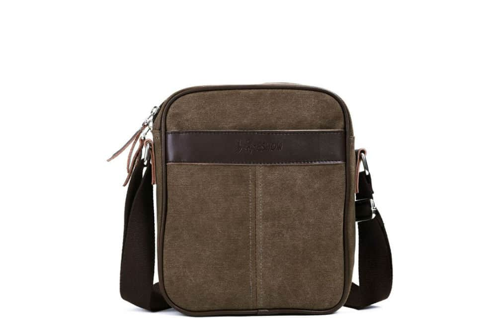 Eshow Men's Small Canvas Crossbody Messenger Bag Review
